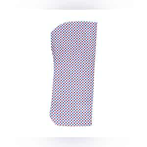 Red, Blue and White Circles Silk Glasses Pouch