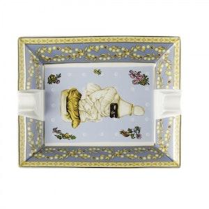 Sky Blue Pulcinella Ceramic Ashtray