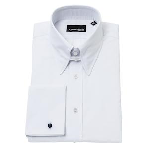 White Tab Collar Shirt