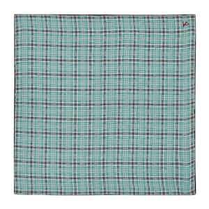Blue and Grey Check Pocket Square