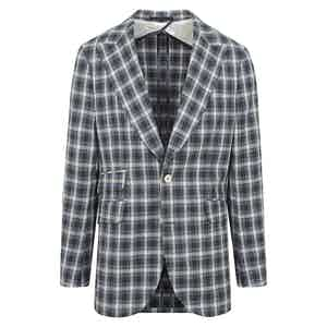 Blue, White and Grey Check Jacket