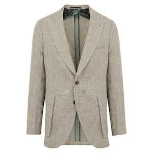 Cream Check Linen Jacket