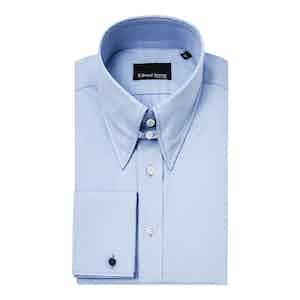 Powder Blue Cotton Regular Fit Shirt