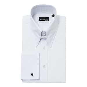 White Cotton Regular-Fit Shirt