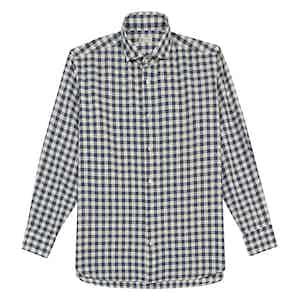 Navy Gingham Cotton Shirt