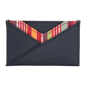 Navy Leather Howard Card Wallet