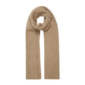 Camel Cashmere Knit Scarf