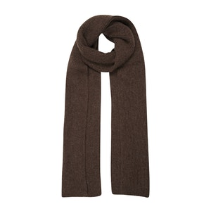 Chocolate Brown Cashmere Knit Scarf