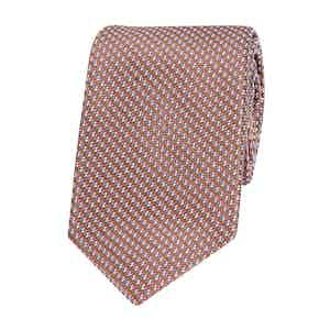 Brown Pixel Silk Tie
