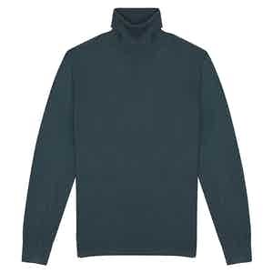 Forest Green Cashmere Roll Neck Sweater