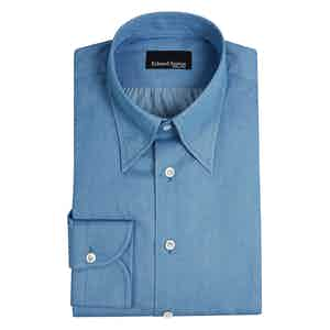 Blue Cotton Button-Down Shirt