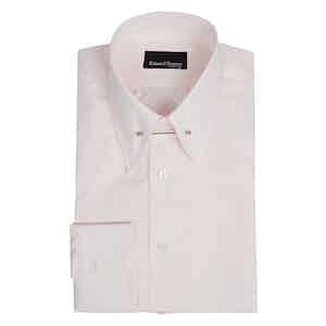 Pale Pink Cotton Pin-Collar Shirt