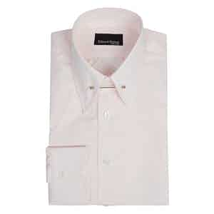 Pale Pink Cotton Pin-Collar Shirt