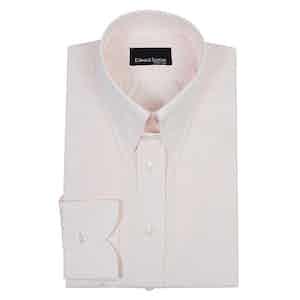 Pale Pink Cotton Tab-Collar Shirt