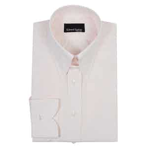 Pale Pink Cotton Tab-Collar Shirt