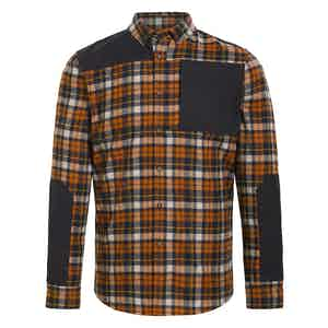 Orange Plaid Wool Touring Flannel Shirt
