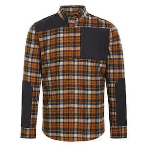 Orange Plaid Wool Touring Flannel Shirt