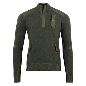 Hunter Green Lambswool Alpine Guide Sweater