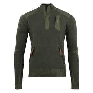 Hunter Green Lambswool Alpine Guide Sweater