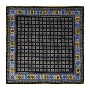 Blackberry and Yellow Silk Primitivo Pocket Square