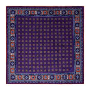 Orange and Plum Silk Primitivo Pocket Square