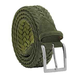 Green Braided Suede Belt Vincenzo