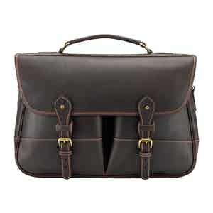 Sundance Floodlight Leather Large Clipper Satchel