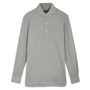 Grey Marl Canclini Cotton Pique P014 Polo Shirt