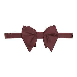 Burgundy Grosgrain Pre-Tied Bow Tie