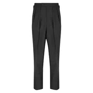Grey Tropical Wool Aleksandar Trousers