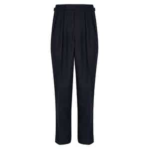 Navy Tropical Wool Aleksandar Trousers