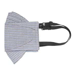 Brown and Blue Check Poplin Mask