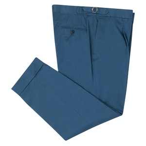 Teal Cotton Trousers