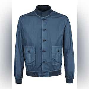 Blue Cotton Garment-Dyed Valstarino Jacket