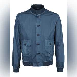 Blue Cotton Garment-Dyed Valstarino Jacket
