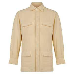 Linen Safari Cream Overshirt