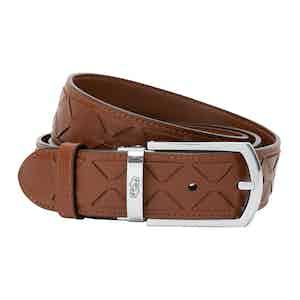 Cognac Mosaico Leather Belt