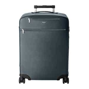 Navy Blue Leather Cabin Trolley