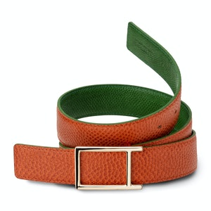 Green and Red Reversible Toscana Karung Belt