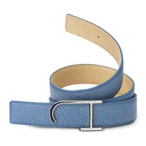Light Blue and Tan Reversible Riviera Karung Belt
