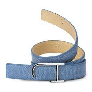 Light Blue and Tan Reversible Riviera Karung Belt