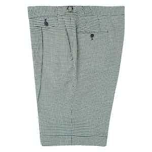 Green & Blue Check Wool Seersucker Shorts
