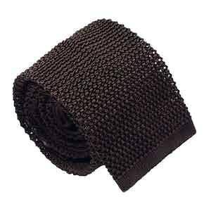 Brown Silk Maglia Tie
