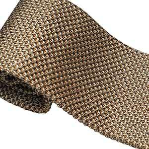 Gold Silk Maglia Tie