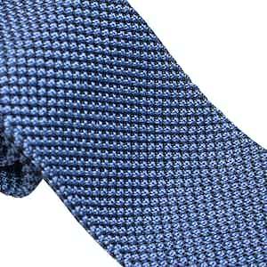Light Blue Silk Maglia Tie