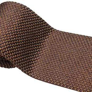Light Brown Silk Maglia Tie