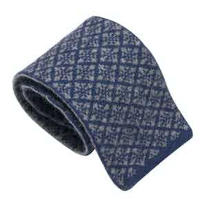 Blue & Grey Wool Maglia Tie