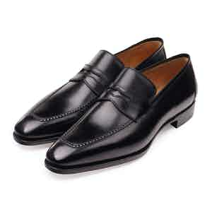 Brown Box Calf Penny Loafers