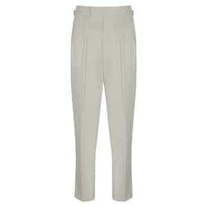 Off White Cotton Slim Aleks Trousers
