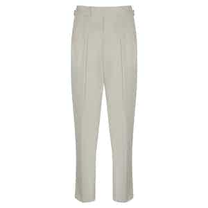 Off White Cotton Slim Aleks Trousers